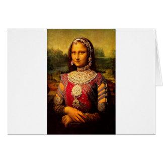 Indian Royal Monalisa Greeting Card