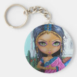 indian sari girl keychain