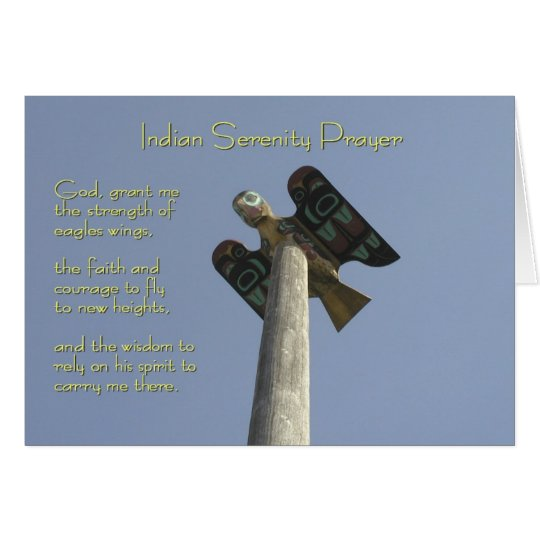 Indian Serenity Prayer Card