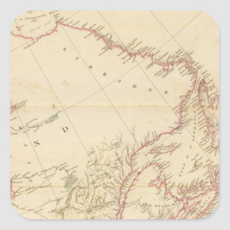 Indian Settlements in North America 2 Square Sticker