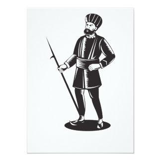 Indian Sikh Guard Retro Personalised Invitations