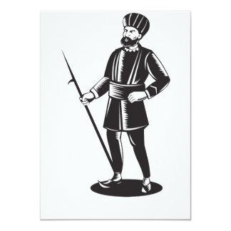 Indian Sikh Guard Retro Personalized Invite