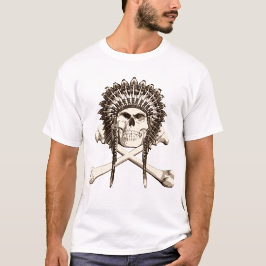 Indian Skull and Crossbones T-Shirt