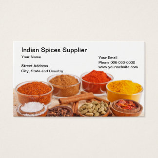Indian Spices Supplier Business Card