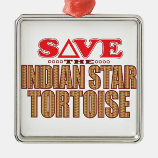 Indian Star Tortoise Save Christmas Ornament