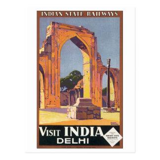 Indian State Railways Visit India Delhi Postcard
