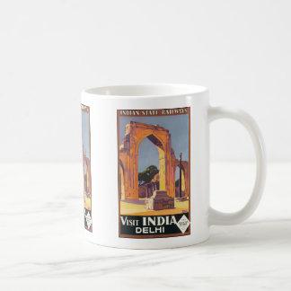 Indian State Railways Visit India Delhi, Vintage Coffee Mug