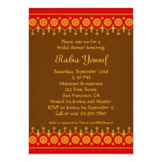 Indian Style Bridal Shower Invitation