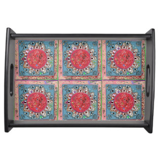 Indian Style Red Sunflower Serving Tray