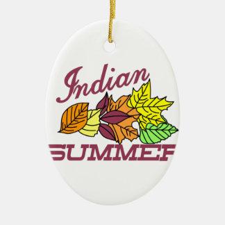Indian Summer Ceramic Oval Decoration