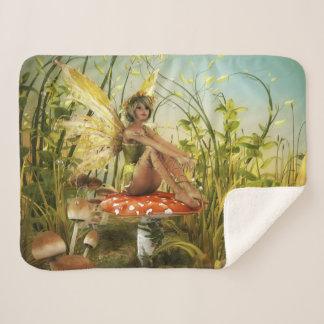 Indian Summer Fairy Small Sherpa Fleece Blanket