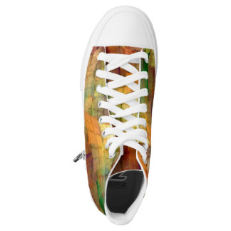 Indian Summer Funny Check Printed Shoes