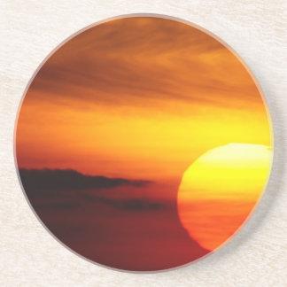 Indian Summer Sunset Beverage Coaster