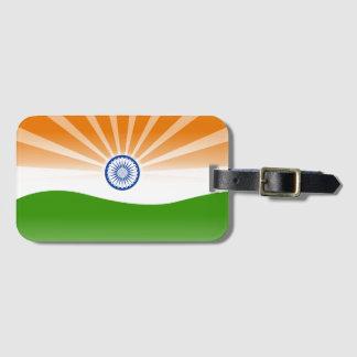 Indian sun luggage tag