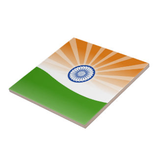 """""""Indian"""" sun Small Square Tile"""
