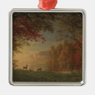 Indian Sunset Deer by a Lake Christmas Ornament