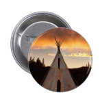 Indian Teepee Sunset vertical image Badges