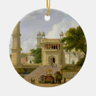 Indian Temple, said to be the Mosque of Abo-ul-Nab Christmas Ornament