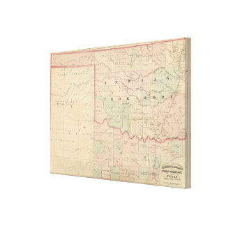 Indian Territory and Texas, North West Portion Canvas Print