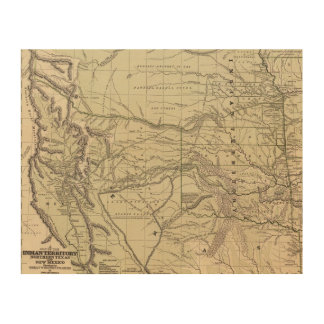 Indian Territory, North Texas, New Mexico Wood Wall Decor