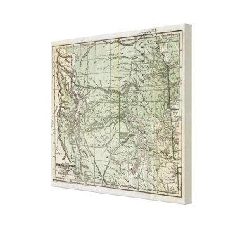 Indian Territory, Northern Texas and New Mexico Canvas Print