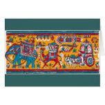 indian textile2 greeting cards