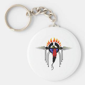 Indian Totem Basic Round Button Key Ring