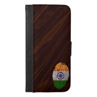 Indian touch fingerprint flag iPhone 6/6s plus wallet case
