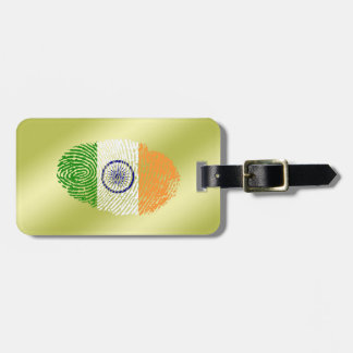 Indian touch fingerprint flag luggage tag