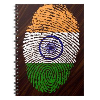 Indian touch fingerprint flag notebooks