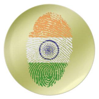 Indian touch fingerprint flag plate
