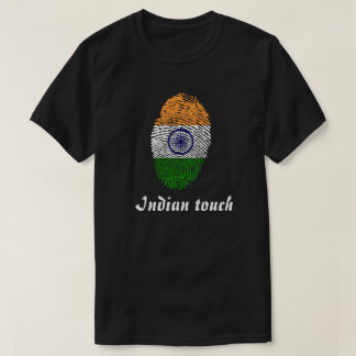 Indian touch fingerprint flag T-Shirt