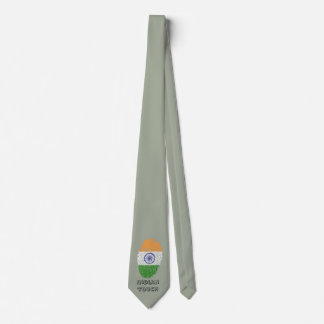 Indian touch fingerprint flag tie