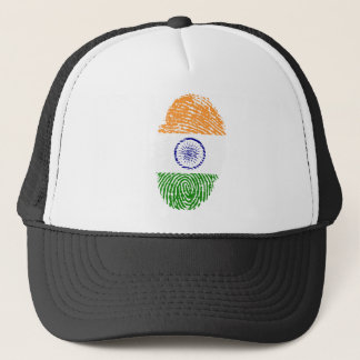 Indian touch fingerprint flag trucker hat
