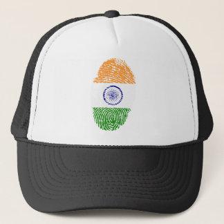 Indian touch fingerprint flag trucker hat