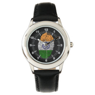Indian touch fingerprint flag watch