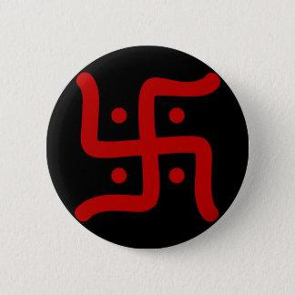 indian traditional hindu swastika symbol religion 6 cm round badge
