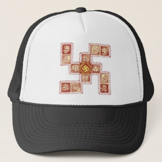 Indian Traditional Swastika Trucker Hat