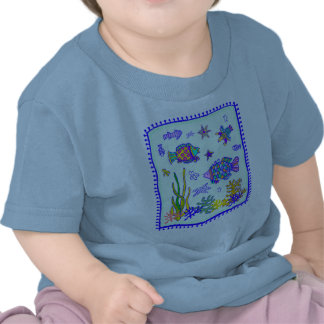 Indian Tropical Fish Quilt Shirts