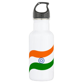 Indian undulating flag 532 ml water bottle