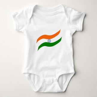 Indian undulating flag baby bodysuit