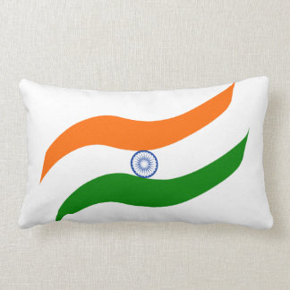 Indian undulating flag lumbar cushion