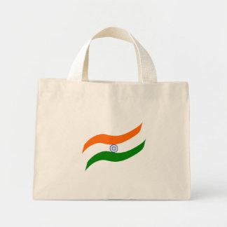 Indian undulating flag mini tote bag