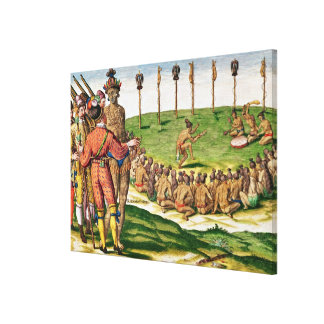 Indian Victory Ceremony, from 'Brevis Canvas Print