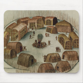 Indian Village of Pomeiooc Mouse Pad