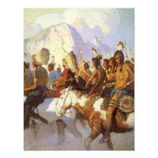 Indian War Party by NC Wyeth Vintage Western Art Custom Invitations