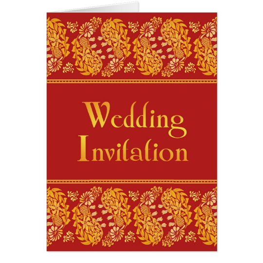 Indian Wedding Folded Card Invitation