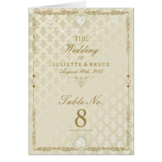 Indian Wedding III - Table Number Card
