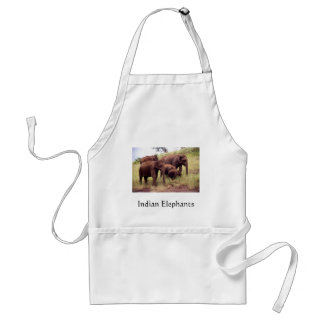 Indian wild elephants standard apron