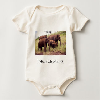 Indian wild elephants bodysuits